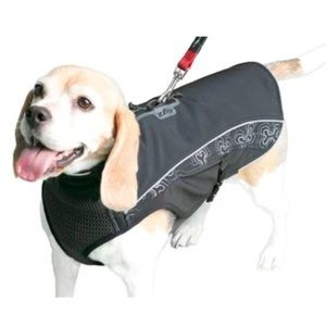Rogz Sportskin soft shell dog jacket - black